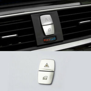 For BMW 2 3 4 Series 3GT F34 F30 2* Chrome Security Warning Button Cover Trim