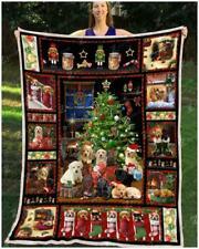 Labrador - Christmas Sofa Fleece Blanket, Quilt Blanket