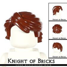 LEGO Minifigure Hair BROWN 43753 Male Boy Swept Back Tousled Anakin Skywalker