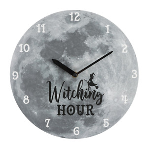 Tattoo Studio Gothic Witching Clock Witch Barber Decor Moon Christmas GIFT