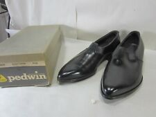 Vintage Pedwin Black Leather Mens Shoes Nos Size 9 1/2 D