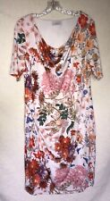 Per Una Pretty Ivory Floral Fully Lined Stretch Dress - Size 20