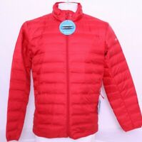 NEW Columbia Red 650 Lake 22 Puffer Full Zip Water Resistant Jacket Men's L