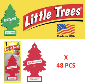 LITTLE TREES Strawberry Air Freshener Tree 10312 1UP-10312 MADE IN USA 48 pcs