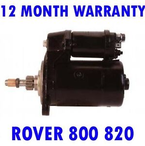 ROVER 800 820 1986 1987 1988 1989 > 1991 REMANUFACTURED STARTER MOTOR