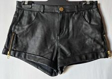 """WOMEN'S SHORTS TOPSHOP PETITE FAUX LEATHER SIZE 8/26"""" NWOT RRP $98- FREE POSTAGE"""