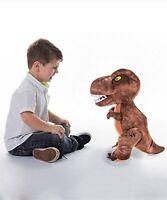 "Extra Large Jurassic World Plush Soft Toy 22"" T-Rex Velociraptor"