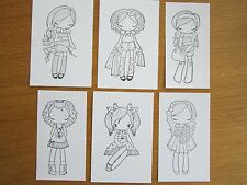 CUTE 'GREETING FARM MISS ANYA' HAND STAMPED IMAGES (x 12)