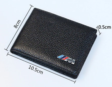 BMW Mens M Sport Collection Purse Wallet Holder Black Leather Credit Card Drive