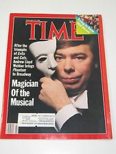 Time Magazine- Magician Of the Musical- Andrew Lloyd- January 18, 1988