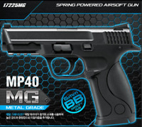 [Academy] #17225MG MP40 Metal Grade Spring Powered Airsoft Gun Military Toy