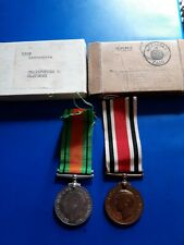 More details for george vi police special constable & defence medals for cb fletcher.