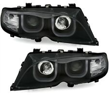 2 FEUX PHARE AVANT ANGEL EYES LED 3D BMW SERIE 3 E46 BERLINE PHASE 2 > 10/2001