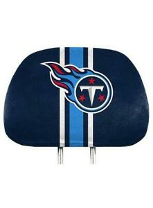 Tennessee Titans NFL Printed Head Rest Cover Set Of Two