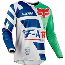 Maillots de cross bleus Fox