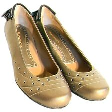 NEW FORNARINA ITALIAN LADIES LEATHER SHOES 4 7 37  $380 PUMPS  GOLD