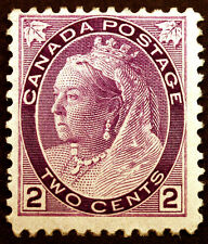 Canada #76 2c Purple 1898 Queen Victoria VF *MLH*