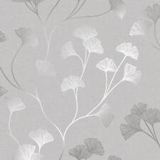 GLISTENING GINKGO WALLPAPER GREY / SILVER HOLDEN 12700 - FEATURE WALL NEW