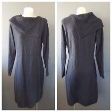 JANE LAMERTON Womens Black Long Sleeve Fine Knit Fitted Dress Size 14