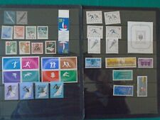 Poland 1958-63 Ten sets and miniature sheet mounted mint