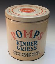 Große Blechdose POMPS KINDER GRIESS um 1955