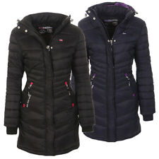 Geographical Norway Damen Winter Jacke Mantel gefüttert Winterjacke Parka lang .