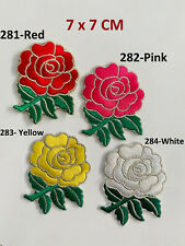 Rugby English Rose Embroidered Iron Sew On Patch Biker Rocker Ton Up Boys New