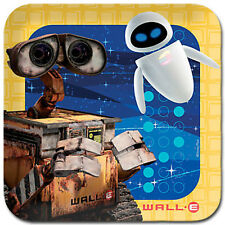"""8 Pack DISNEY WALL-E Eve Kids Birthday Square Party Table Paper Plates 8"""""""
