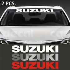 2 pcs. Suzuki windshield decal sticker Swift SX4 Grand Vitara Jimny Liana Samur