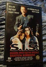 S.I.S. SQUADRA INVESTIGATIVA SPECIALE  GIUSTIZIA PRIVATA  Vhs ORIGINALE  (1993)