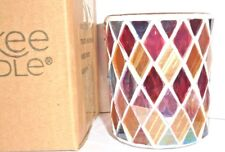 Yankee Candle RUSTIC MOSAIC Votive Holder - NEW IN BOX ~ FREE SHIPPING