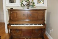 1914 Behr Brothers Player Piano with Bench and 42 rolls ☆ plays beautiful