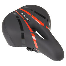 PedalPro Soft Bicycle Saddle with Built In LED Rear Light Bike Comfort Seat Red