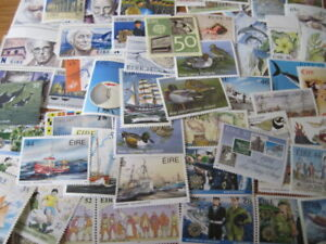 IRELAND SMALL SELECTION MODERN MNH ISSUES APPROX 80 STAMPS.