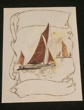 Vintage Antioch Bookplate, Sailboats