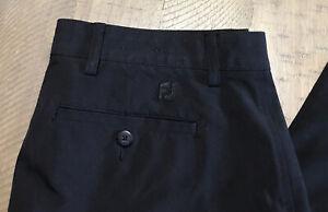 "Mens Foot-joy FJ Performance Stretch Pants Golf ⛳️Black Sz 34 Short. 28"" Ins EUC"