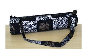 Traditional Cotton Silver & Gold Yoga Mat Bag Carrion Pilate Carry Shoulder Bags