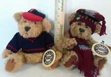 Lot Of 2 Brass button fully Jointed Collectible Bears 1996 Tully & Dooley