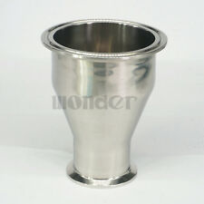 """89mm to 51mm Pipe OD 3.5"""" to 2"""" Tri Clamp SUS304 Sanitary Reducer Homewbrew"""