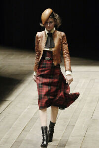 Rare Vtg Alexander McQueen AW2006 'Widows of Culloden' Red Tartan Skirt S