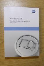 GENIUNE VW GOLF VII MK7 GTI GTD, GTE, R  HANDBOOK OWNERS MANUAL 2012-2017 BOOK