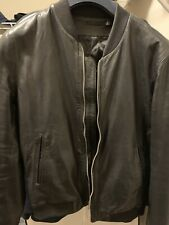 BLK DNM NYC Bomber Style Leather Jacket
