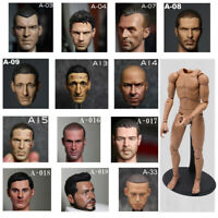 "1/6 Scale V Series Male Head Sculpt+V Figure Body Narrow Shoulder 12"" veryhot"
