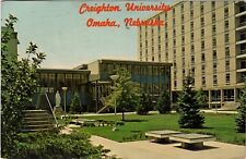Omaha, NE Postcard - Creighton University- Degiman Hall, Student Center, Swanson