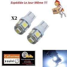 2X AMPOULES T10 W5W 5 LED 5050 SMD BLANC ODB TUNING 6000K FEU DE POSITION