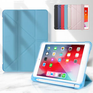 PU Smart Case Cover + Pencil Holder For Apple iPad 8th 10.2 Pro 11 2020 9.7 10.5