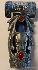 Mystic Skull Gothic Cigarette Cigar Lighter Case Pewter Small Biker  Scary