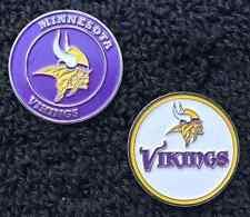 New NFL Minnesota Vikings 2 sided Golf Ball Marker + Bonus