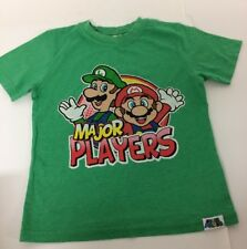 Nintendo Super Mario Luigi Major Players Boys Green Graphic T Shirt 6-7 Years