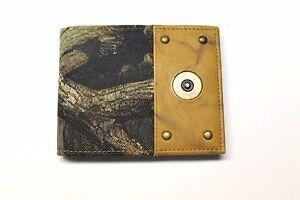 Camo Billfold Wallet -  Shot Gun Shell Ornament Leather & Nylon- NEW